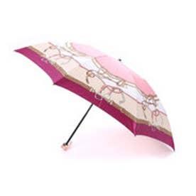 ホワイ Why ベルテッドハーネスプリント 折り畳み傘 (ピンク)