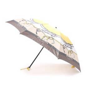 ホワイ Why ベルテッドハーネスプリント 折り畳み傘 (イエロー)