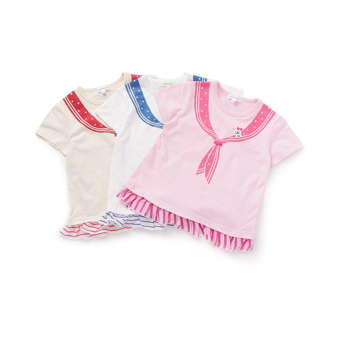 ロコンド 靴とファッションの通販サイトサンカンシオン3can4on【WEB限定/お得なセット商品】ボーダードッキングセーラーカラーTシャツ(3枚セット)(その他)