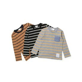 サンカンシオン 3can4on 【WEB限定】ボーダー柄3枚セットTシャツ (その他)
