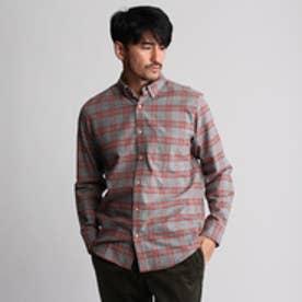 フォーティーカラッツアンドゴーニーゴ 40CARATS&525 タータンチェックネルシャツ (ダークグレー)