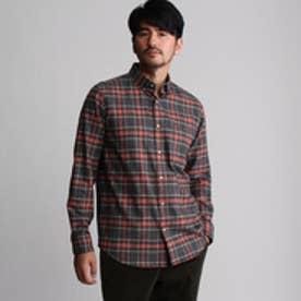 フォーティーカラッツアンドゴーニーゴ 40CARATS&525 タータンチェックネルシャツ (ダークグリーン)