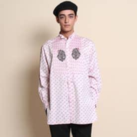 フォーティーカラッツアンドゴーニーゴ 40CARATS&525 【Atelier line】フラミンゴプリントシャツ (ピンク)