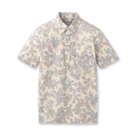 アダバット adabat クールリーフプリントシャツ (レモンイエロー)