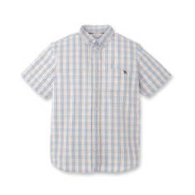 アダバット adabat サッカーチェックシャツ (ブルー系)