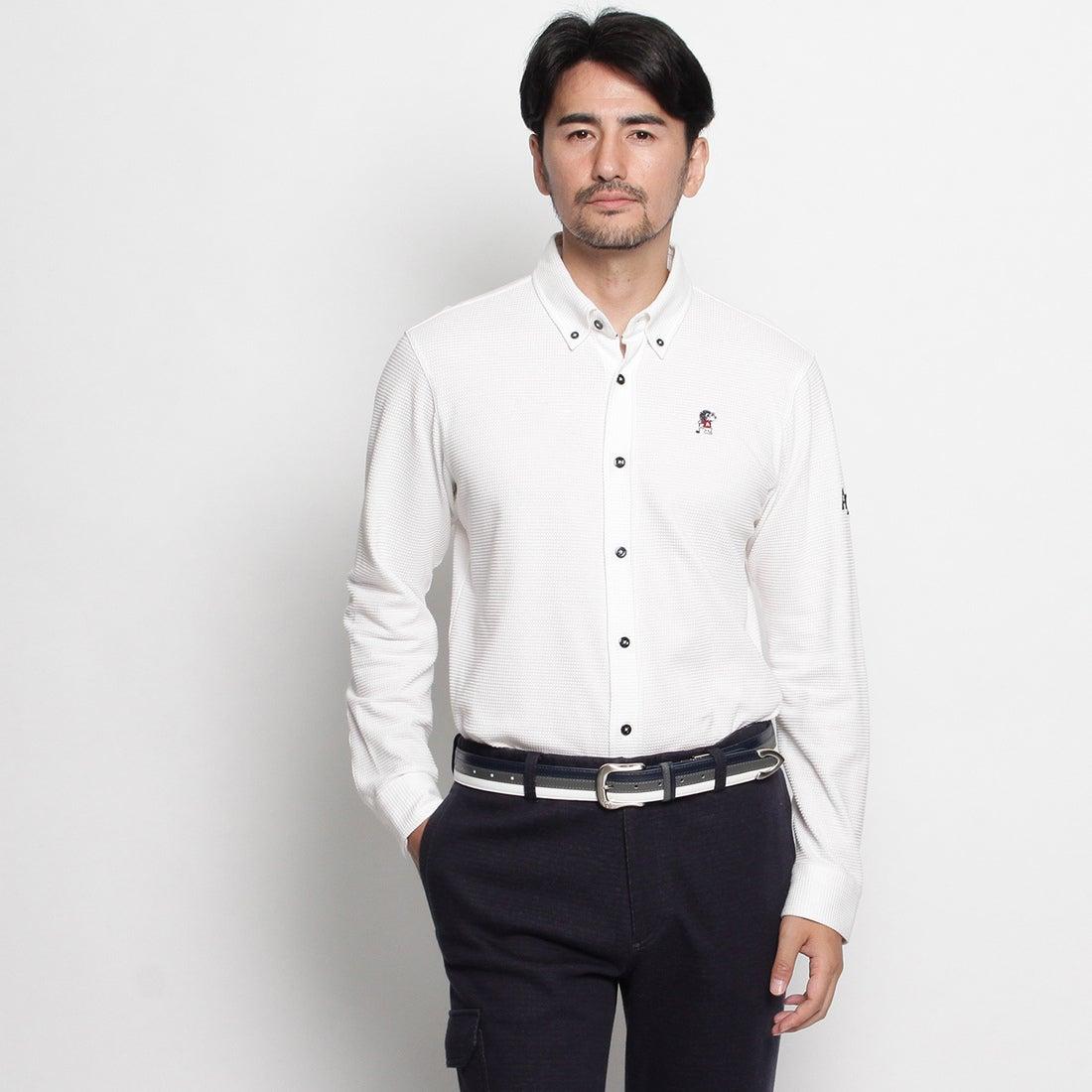 【SALE 30%OFF】アダバット adabat 30周年企画『アシスト君』ワッフルジャージ長袖シャツ (ホワイト系)