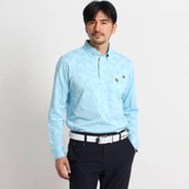 アダバット adabat サーフボードモチーフ長袖ポロシャツ (ライトブルー)