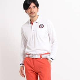 アダバット adabat 【UVカット】【吸水速乾】胸ポケット付長袖ポロシャツ (ホワイト)