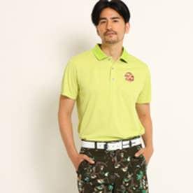 アダバット adabat 【クールコア】【UVカット】パームツリーモチーフ半袖ポロシャツ (イエローグリーン)