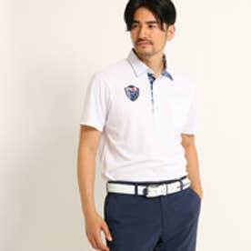 アダバット adabat ボタニカル柄モチーフ半袖ポロシャツ (ホワイト)