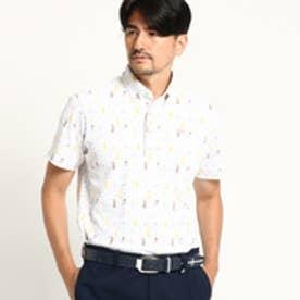 アダバット adabat 【吸水速乾 UVカット】 ジャガード 半袖ポロシャツ (ホワイト)