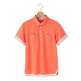 アダバット adabat レイブロック半袖ポロシャツ (オレンジ)