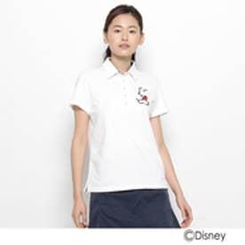 アダバット adabat ストレッチカノコ半袖ポロシャツ(ミッキーマウス) (ホワイト)