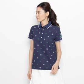 アダバット adabat モノグラムロゴ半袖ポロシャツ (ブルー系)