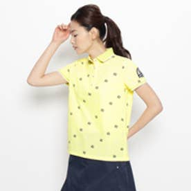アダバット adabat モノグラムロゴ半袖ポロシャツ (レモンイエロー)
