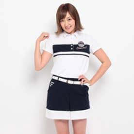 アダバット adabat 胸切替半袖ポロシャツ (ホワイト)