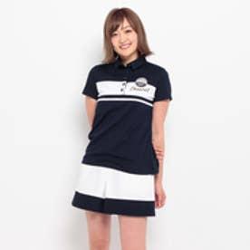 アダバット adabat 胸切替半袖ポロシャツ (ネイビー)