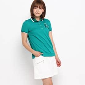 アダバット adabat クールコアリゾートモチーフポロシャツ (グリーン)