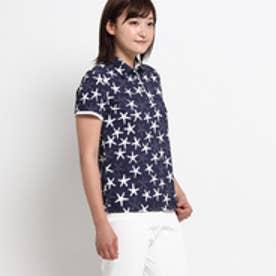 アダバット adabat ヒトデ鹿の子ポロシャツ (ネイビー)