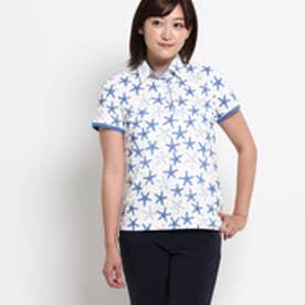 アダバット adabat ヒトデ鹿の子ポロシャツ (ホワイト系)