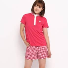 アダバット adabat クールコア(R)切り替えデザインポロシャツ (ピンク系)