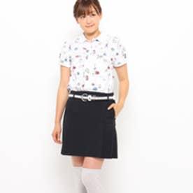 アダバット adabat ロンドンモチーフプリント半袖ポロシャツ (ホワイト)