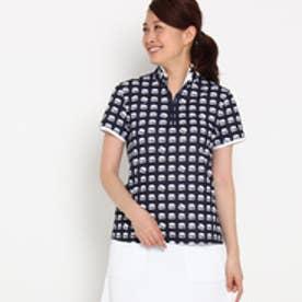 アダバット adabat ハンバーガーモチーフ半袖ポロシャツ (ネイビー)