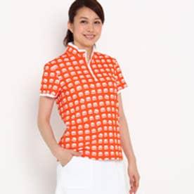 アダバット adabat 【UVカット】【吸水速乾】ハンバーガーモチーフ半袖ポロシャツ (オレンジ)