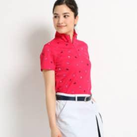 アダバット adabat 【UVカット】【遮熱効果】フラガールプリント半袖ポロシャツ (ピンク系)