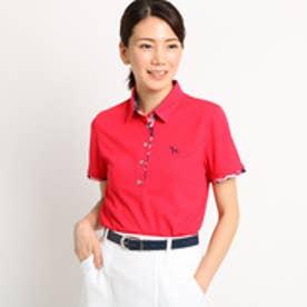 アダバット adabat 【クールコア】【UVカット】 ボタニカル半袖ポロシャツ レディース (ピンク系)