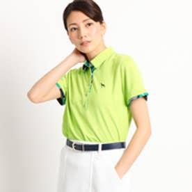 アダバット adabat 【クールコア】【UVカット】 ボタニカル半袖ポロシャツ レディース (イエローグリーン)