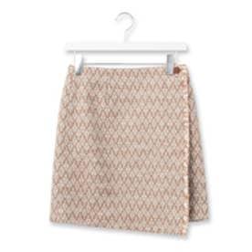 エージー バイ アクアガール AG by aquagirl ダイヤ柄ジャカード織りラップスカート (キャメル)