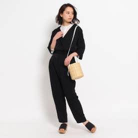 エージー バイ アクアガール AG by aquagirl テーラードジャンプスーツ (ブラック)