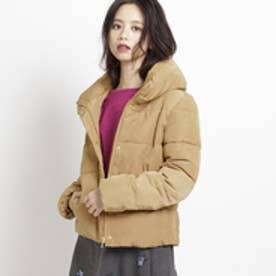 エージー バイ アクアガール AG by aquagirl スタンドカラー中綿ショートコート (キャメル)