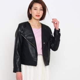 エージー バイ アクアガール AG by aquagirl ライダースジャケット (ブラック)