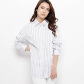 エアパペル AIRPAPEL 【洗える】フィルロワストライプシャツ (ホワイト)