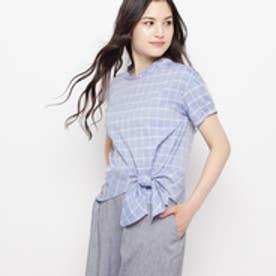 エアパペル AIRPAPEL 【洗える】ラフィネチェックシャツ (ブルー)