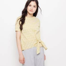 エアパペル AIRPAPEL 【洗える】ラフィネチェックシャツ (レモンイエロー)