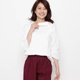 エアパペル AIRPAPEL 【洗える】ドットジャガードシャツ (ホワイト系)