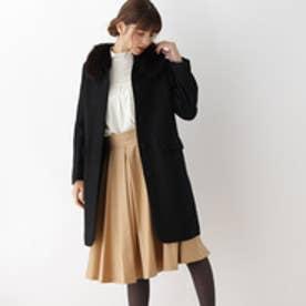 アナトリエ anatelier 【S・Lサイズあり】ファー衿ロングコート (ブラック)