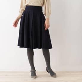 アナトリエ anatelier 【SS・Lサイズあり】ハイカウントサキソニースカート (ブルー系)