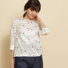アナトリエ anatelier 【S・Lサイズあり】リバティプリントシャツ (ピンク)