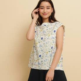 アナトリエ anatelier LIBERTY フラワープリントシャツ (ブルー)