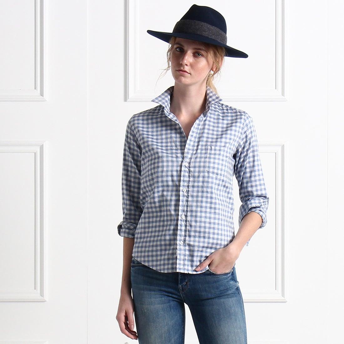 ロコンド 靴とファッションの通販サイトアクアガールaquagirlFrank & Eileenギンガムチェックシャツ(ブルー)