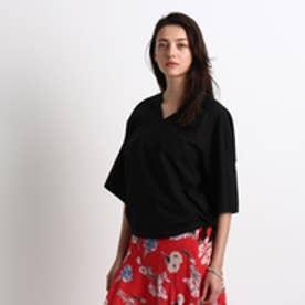 アクアガール aquagirl ◆08sircus Vネック結びシャツ (ブラック)
