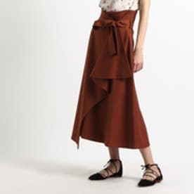 アクアガール aquagirl ◆ELIN ドレープラップスカート (ダークブラウン)