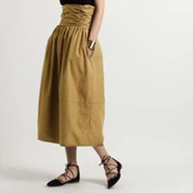 アクアガール aquagirl ELIN ハイウエストギャザースカート (カーキ)