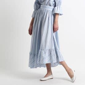アクアガール aquagirl ペプラムストライプスカート (サックス)