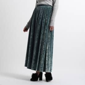 アクアガール aquagirl ベロアロングスカート (アクアブルー)