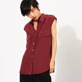 アクアガール aquagirl フラップポケットシャツ (ボルドー)